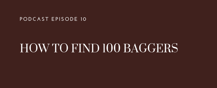 How to find 100 bagger investments