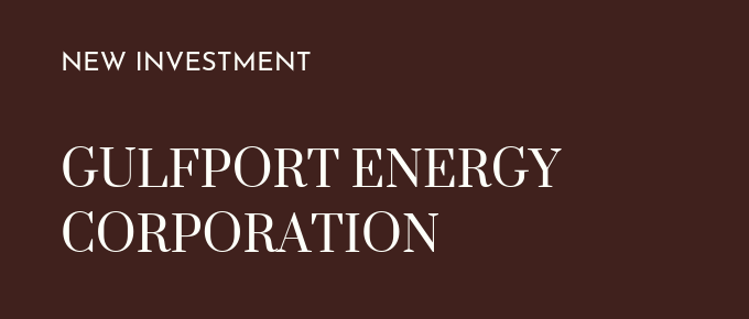 New Investment Gulfport Energy